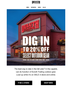 Duluth Trading Company - Get Out And Get 20% OFF