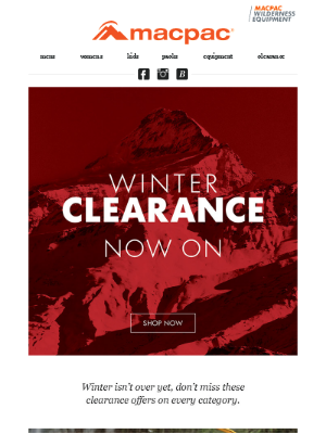 Shop our top winter clearance deals