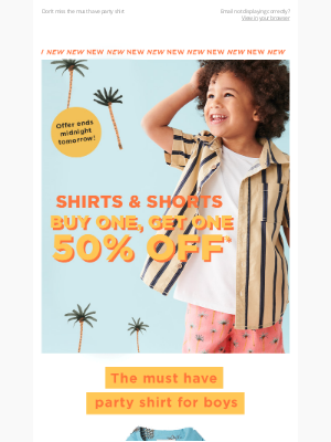 Cotton On & Co. - Buy one, get one 50% off NEW shirts & Shorts