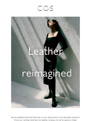 COS - Leather with no limits | Fall-ready tops
