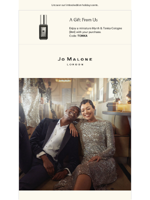 Jo Malone - The season of extravagance has arrived