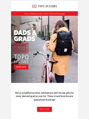 Topo Designs - Celebrate Dads & Grads