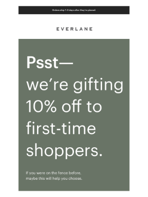 Everlane - A Little Something To Brighten Your Day