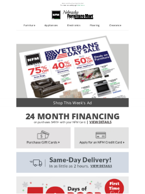 Nebraska Furniture Mart - Here is your weekly ad.