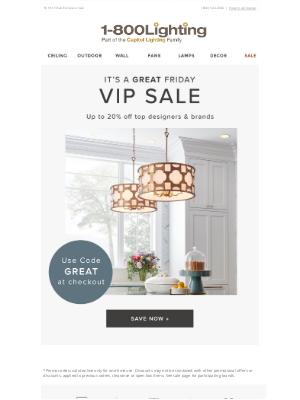 Capitol Lighting's 1800lighting - Weekend VIP SALE ⚡