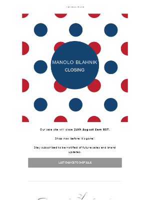 Manolo Blahnik - Last Chance to Shop Sale