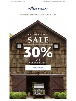 Peter Millar - Reminder: 30% Off Select Styles