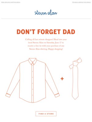 It's Almost Father's Day | Don't Forget Dad