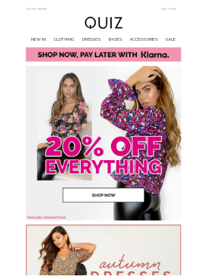 Quiz Clothing (UK) - Your 20% off is waiting...💖