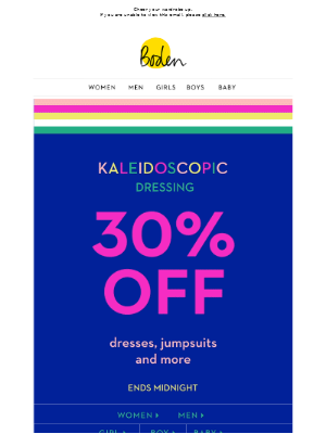 Don't forget your 30% off