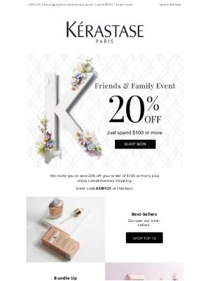 Kérastase - 20% OFF + Bonus Gift 🎁 Ends Soon!