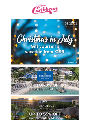 Final Days for Christmas in July Savings 🎁