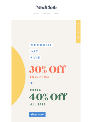 Take an extra 40% off sale items!