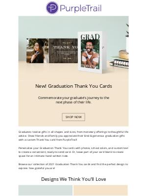 "PurpleTrail - 🆕 2021 Graduation ""Thank You"" Cards!"