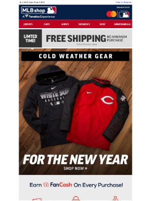 MLB - We've Got Your Covered - Cold Weather Gear + Free Shipping!