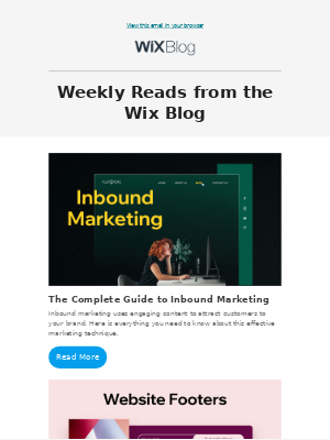 Weekly reads from Wix
