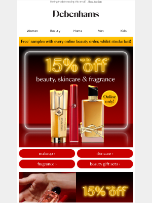 Debenhams (UK) - Up to 15% OFF luxe beauty 😍