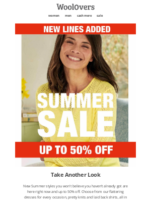 WoolOvers (UK) - New Styles Added To Sale - Up To 50% Off.