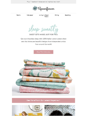 Spoonflower - Sheets that *MAKE* the bed