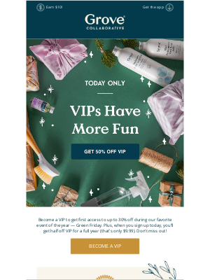 Grove Collaborative - An invitation to VIP access and prices