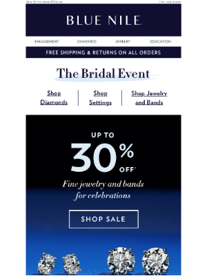 Up To 30% Off Wedding Bands Just For You