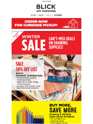 Blick Art Materials - Right now: SAVE on drawing supplies!