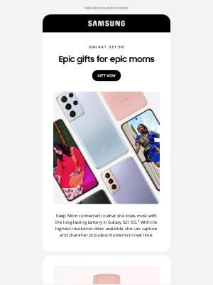 Samsung - loremipsumdolor, make this Mother's Day epic with Galaxy