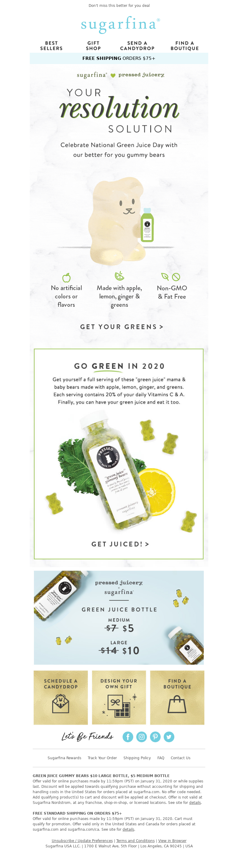 Sugarfina - It's National Green Juice Day 🍏