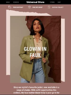 Universal Store (AU) - Faux Leather Blazers 😍