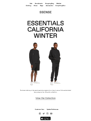 SSENSE - Essentials California Winter: New Release