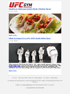 UFC GYM - Healthy & Delicious Family Meal: Chicken Tacos