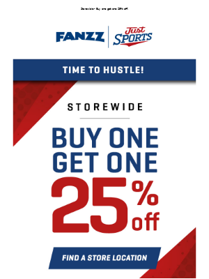 Utah Jazz - Time to Hustle! BOGO 25% Off In Stores NOW