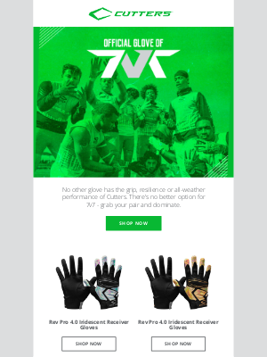 Cutters Sports - Can't Beat Cutters 🏈 7v7 Gloves