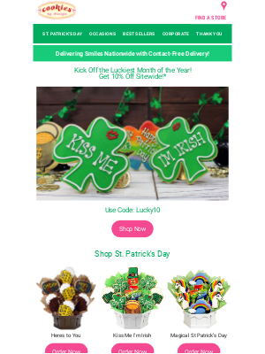Cookies by Design - O' Lucky Day! Cookie Sale Inside!