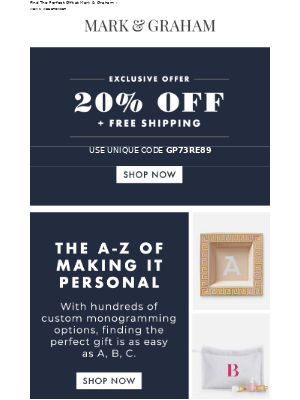 The A-Z Of Making It Personal {+ 20% Off & Free Shipping On All Gifts}
