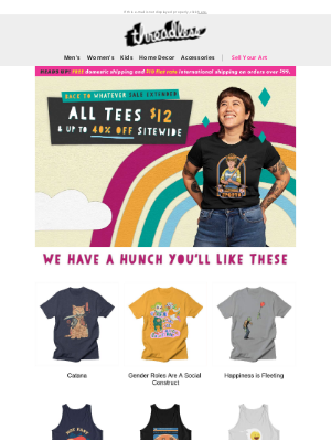 Threadless - It's your lucky day. 😻