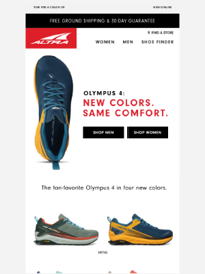 Altra Running - Olympus 4—Now in new colors