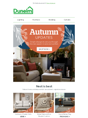 Dunelm (UK) - cosy days 📺 and nights in 💤
