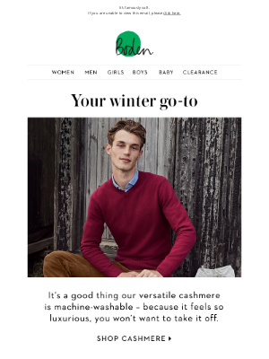 Boden (UK) - Have you tried our cashmere?