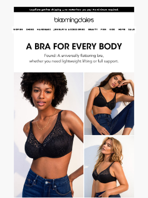Bra-llelujah! We found a style that flatters every body type