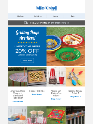 Miles Kimball - Grill, chill and save!