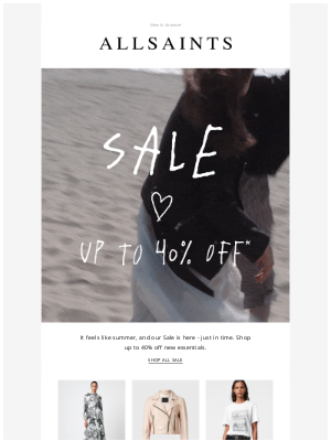 ALLSAINTS (UK) - The Sale is here   Up to 40% Off