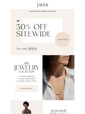 The Perfect Lineup | 50% Off Sitewide