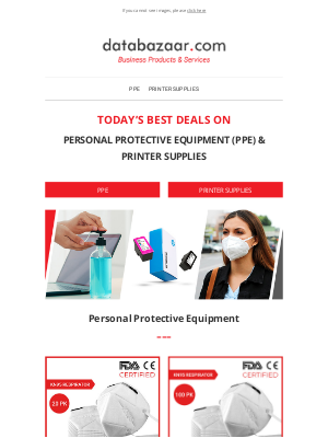 Massive Savings On PPE & Printer Supplies