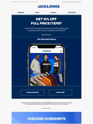 Jack & Jones (UK) - Get 10% off full price items