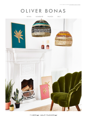 Oliver Bonas - New home updates | Refresh your space for spring