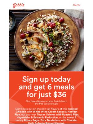 Gobble - Hurry, this fall menu closes at midnight! ⏰