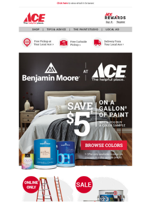 Ace Hardware - Buy a Color Sample & Save $5 on a Gallon of Paint