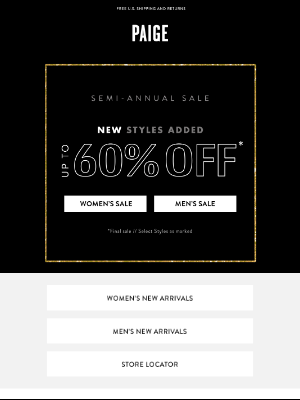 PAIGE - Now up to 60% off // New Styles Added to Sale