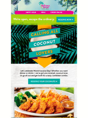 Bahama Breeze - Are you cuckoo for coconuts?